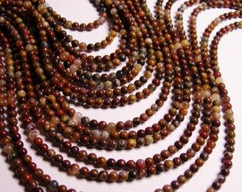 Pietersite - 4 mm round bead - A quality - 93 beads - full strand - RFG74
