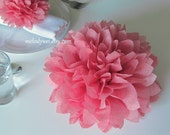 10 centerpieces, 9'' tissue paper flowers, good for Table Decoration and Aisle Decor