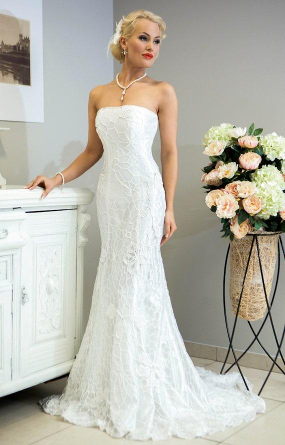 Sale miss evita crochet wedding dress for Crochet wedding dresses for sale
