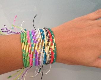Czech beaded bracelets