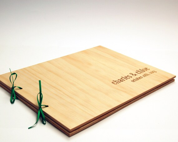 Diy Wedding Guest Book Cover : Diy engraved guest book wood wedding personalized bridal