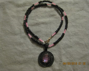 ON SALE: Beaded Necklace with Pendant