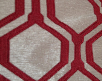 Milo Mid Century Textured Octagon  Fabric By the Yard-Many Colors Available