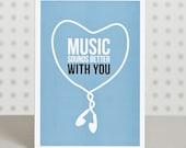 Music Lover Valentine's Day Card