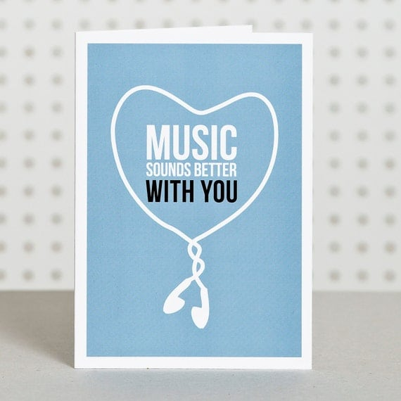 Music Lover Valentine's Day Card