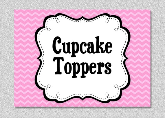Matching Printable Cupcake Toppers