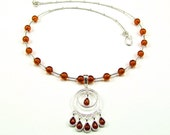 Superb Honey Baltic Amber & Sterling Silver Necklace - N644