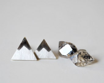 Mountain Post Earrings - Peaks Sterling Silver Stud Earrings