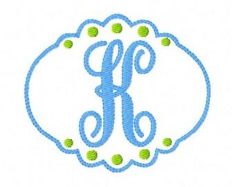 Just Girly Machine Embroidery // Monogram Font Design Set // Embroidery designs, monogram embrodiery designs, font // Joyful Stitches