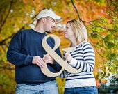 18 Inch Ampersand Photo Prop - Wooden DIY '&' Sign for Wedding or Engagement Photos