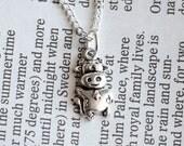 Moo Moo Cow Necklace Silver