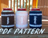 Football Can Cozy crochet PATTERN PDF (instant download)