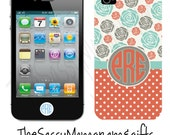 Personalized iphone 4 and 4s case Vintage Rose 2 Tone - Vintage  - custom made - Design your Own iPHone Case