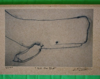 Bill the Blue Whale Eco-journal or sketchbook
