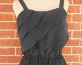Vintage Black Ruffle Dress
