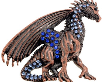 Mythical Sapphire Flying Dragon Brooch 1001672