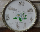 Vintage State of Louisiana New Orleans Tin Metal  Tray