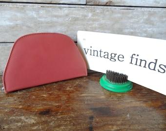 Vintage Leather Pink Manicure Set