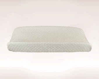 White Minky Changing Pad Cover