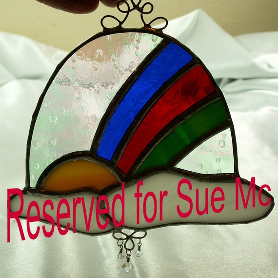 Stained Glass Suncatcher, Look for me in Rainbows