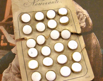Vintage Buttons Nouveaute Austria Antique Metal and Glass ~ epsteam vestiesteam thebestvintage