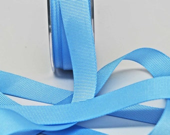 Grosgrain Solid Color Ribbon -- 3/4 inch -- Sky Blue