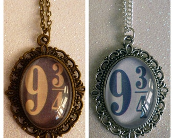 Harry Potter Inspired Platform 9 3/4 Cameo Necklace
