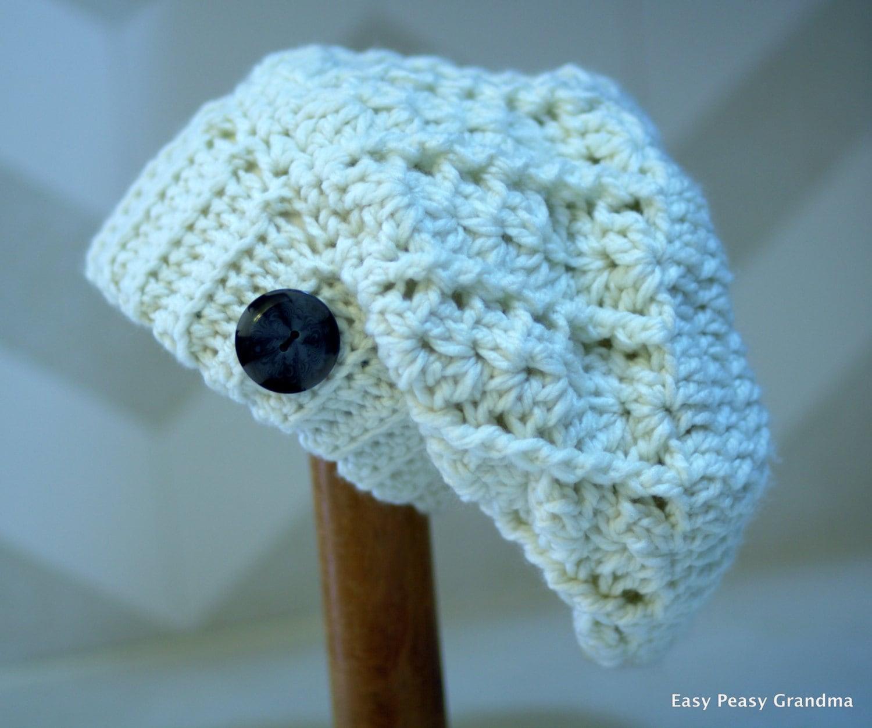 Crochet Pattern slouch hat turtle beanie brim photo