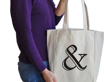 ampersand book tote bag