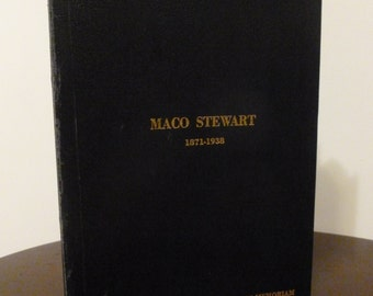 Sale-Vintage-Antique-Special Collections-Maco Stewart 1871-1938-In Memoriam-A Biography by Lewis Valentine Ulrey-Private Print-1939
