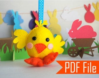 Chick Sewing pattern - PDF ePATTERN  Bird, Instant Download A573