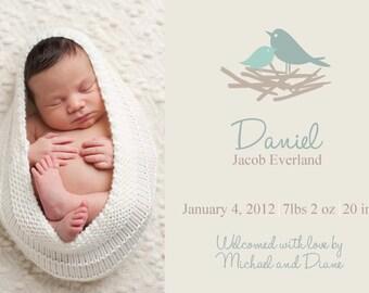 Photo Birth Announcement BOY GIRL PHOTO