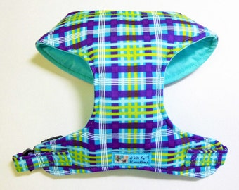 Plaid Comfort Soft Dog Harness. - made to order -