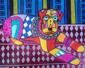 60% Off- Airedale Terrier Art  Dog poster print of painting   Art Painting Heather Galler pop Art