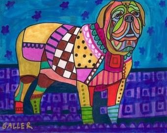 Dogue de Bordeaux art dog  Art Print Poster by Heather Galler (HG392)