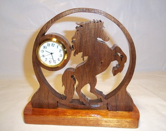 Handcrafted Horse Clock