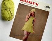Vintage Crochet Pattern PDF 009 Fab Mini Dress from WonkyZebra