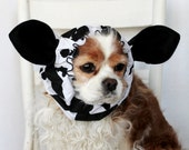 Cow Ears Dog Snood - Stay-Put 3 Rows Elastic Thread - Specialty Dog snood - Cavalier or Cocker long ear covering