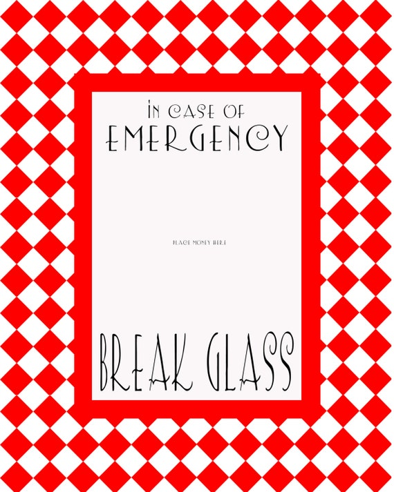 Effortless image inside in case of emergency break glass printable