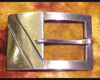 Vintage Art Deco Sterling Silver Buckle Mexico 47.2 Grams FEE SHIPPING