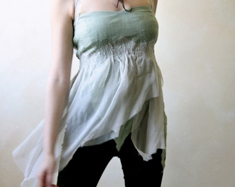 Linen top, festival top, fairy top, crop top, halter top, boho top, hippie top, linen blouse, hippie boho clothing, women clothing, silk top
