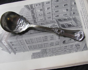 Garland 1910 Pattern - Antique Ornate Silver Plate Sugar Berry Spoon