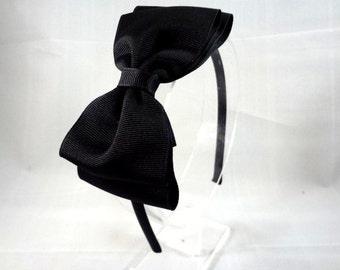 Black Hair Bow Headband, Girls Hair Accessories, Teen Hair Accessories, Adult Hair Accessories, Black Bow Headband, Big Bow Headband