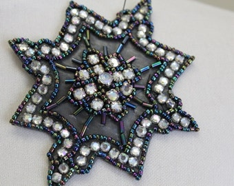 Cute beaded  applique with  rhinestones for dress top 4 by 4 inch