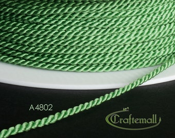 Soutache cord - twisted soutache cord 1.5mm - light green (A4802) - 2 meters
