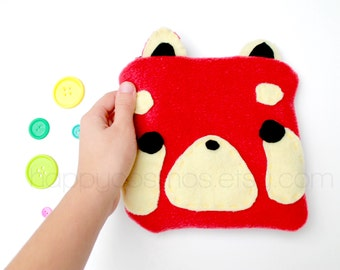 Red Panda Zipper Pouch - Pencil Pouch, Pencil Case, School Supplies, Make Up Bag, 3DS Case, Phone Case, Coin Purse