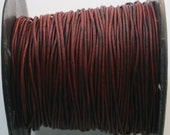 3 Yards of Naturally Dyed 1mm Leather Cord in Turkey Red