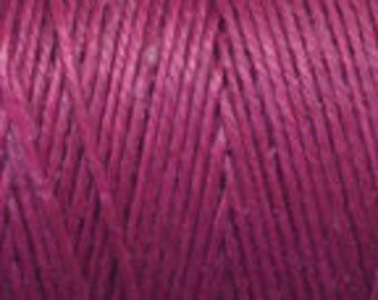 5 Yards of Magenta 4ply Irish Waxed Linen Thread
