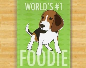 Beagle Magnet - Number One Foodie - Beagle Gift Refrigerator Fridge Dog Magnets