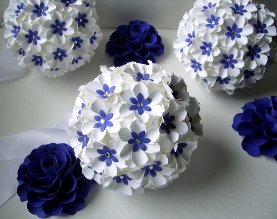 Items similar to pomander handmade paper flowers aisle for Flower decoration made of paper